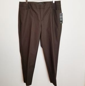 Eloquii Expresso Brown Katy Fit Ankle Pant